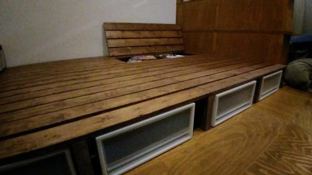 すのこベッドの収納方法
