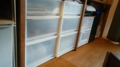 無印良品衣装ケースを食器棚に利用・リメイク前