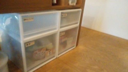 無印良品の衣装ケースを食品棚に利用・リメイク前